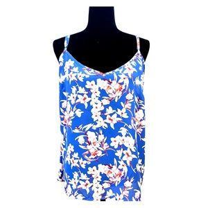GEORGE Plus size breezy floral tank, V neck & back